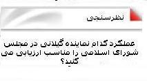 عملکرد کدام نماینده گیلانی در مجلس شورای اسلامی را مناسب ارزیابی می کنید؟