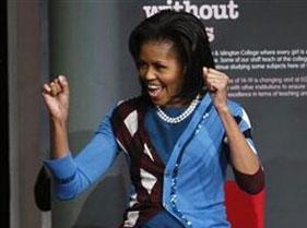 عکس: آمادگی همسر اوباما برای مبارزه!