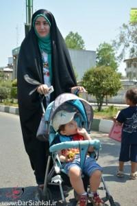 عاشقان مبارزه با اسرائیل در سیاهکل راهپیمایی کردند+گزارش تصویری