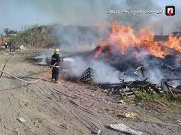 آتش سوزی مهیب در چپرپرد پایین خشکبیجار