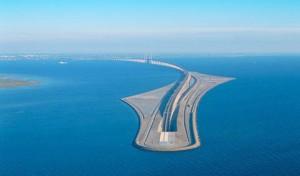 پل بی نظیری که دانمارک و سوئد را به هم متصل می کند +تصاویر