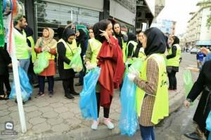 پاکسازی خیابان های رشت از زباله +عکس