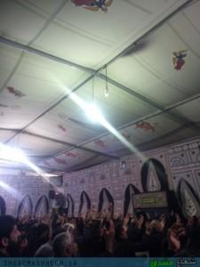 مراسم عزاداری عاشورای حسینی با مداحی حاج مسعود عارفی  برگزار شد/گزارش تصویری