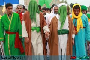 نمایش باز سازی واقعه تاریخی غدیر در رضوانشهر بر گزار شد+گزارش تصویری