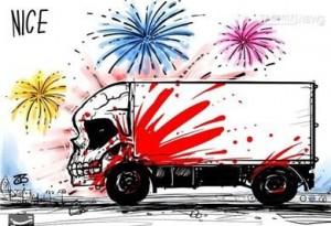 کاریکاتور/ «کامیون وحشت» در فرانسه!