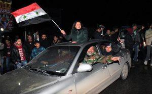 تصاویر؛ جشن و شادی در خیابانهای حلب