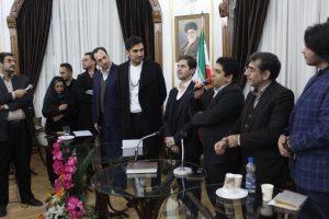 مراسم تقدیر ازحافظ ناظری در تالار گفت وگوی عمارت تاریخی شهرداری کلانشهر رشت