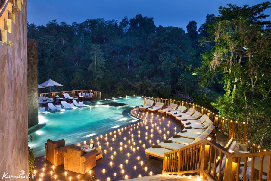 رمانتیک ترین هتل دنیا در بالی به روایت تصویر