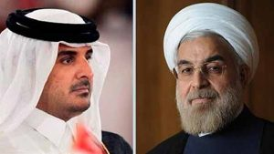 گفتگوی تلفنی روحانی و امیر قطر