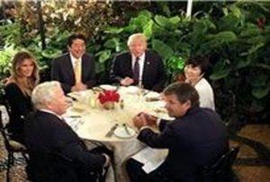 فرار همسر نخست وزیر ژاپن از دست دونالد ترامپ!