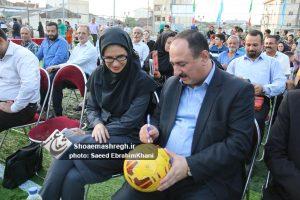 افتتاح زمین فوتبال چمن مصنوعی در منطقه۴ شهرداری رشت+تصاویر