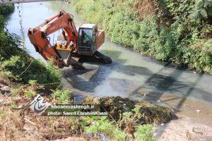 آغاز اجرای لایروبی رودخانه گوهررود از مسیر پل سیاه اسطلخ+گزارش تصویری
