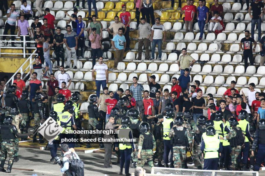 گزارش تصویری فوتبال سپیدرود و ملوان در ورزشگاه عضدی+ حواشی آخر بازی