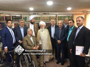 دیدار اعضای مجمع نمایندگان گیلان با آیت الله قربانی به مناسبت عید غدیر خم