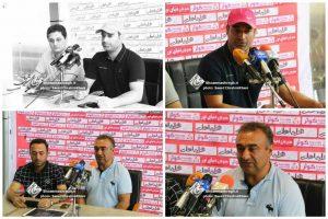 نشست خبری دیدار دو تیم سپیدرود رشت و ملوان بندرانزلی در مرحله یک شانزدهم نهایی جام حذفی + گزارش تصویری