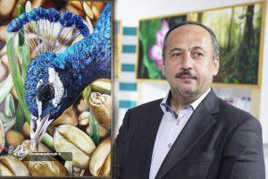 خرید یک تابلو نفیس از آثار هنرمندان رشتی توسط دکتر نصرتی شهردار منتخب رشت