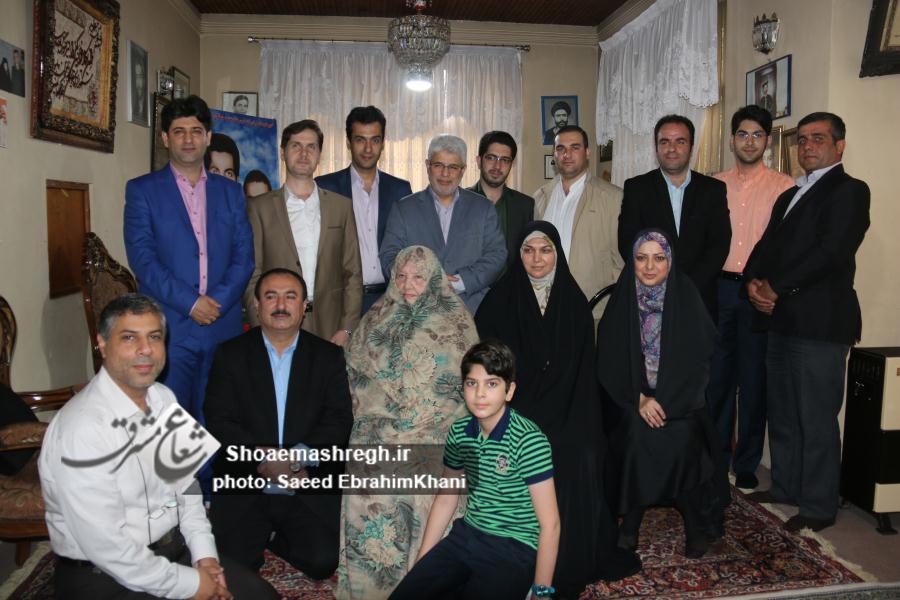 دیدار سرپرست شهرداری رشت با رئیس شورای شهر و مادر شهیدان قناد