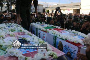 گزارش تصویری ویژه از تشییع  شهدای مدافع حرم علیرضا نظری و بابک نوری هریس در رشت
