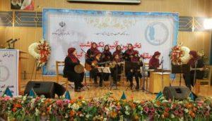 اولین درخشش گروه موسیقی زنان لاهیجان درآیین نکوداشت مادران رشت