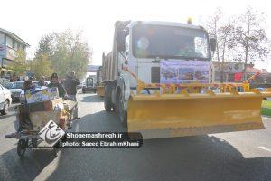 گزارش تصویری رژه خودرویی ستاد مدیریت بحران شهرداری رشت