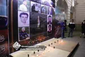 گزارش تصویری مراسم یادبود شهدای خدمت نفتکش سانچی در پیاده راه رشت