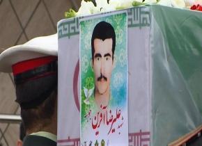 وداع با پیکر مطهر شهید گیلانی تازه تفحص شده دوران دفاع مقدس