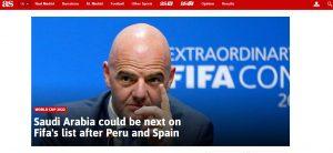 فیفا عربستان را به اخراج از جام جهانی تهدید کرد