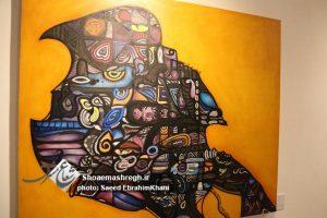 """گزارش تصویری افتتاح نمایشگاه نقاشی """"دیل خووشی"""" در گالری الهی شهر رشت + متن خبر"""