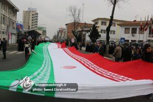 گزارش تصویری راهپیمایی تماشایی ۲۲  بهمن در رشت با حضور مردم و مسئولین