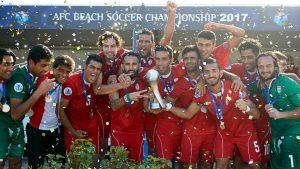 تیم ملی فوتبال ساحلی ایران همچنان بر بام آسیا