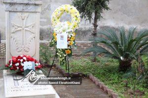 حضور و ادای احترام شهردار رشت بر مزار آرسن میناسیان + گزارش تصویری