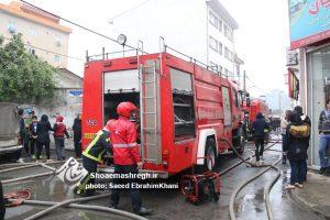 گزارش تصویری ویژه از مهار نفس گیر آتش سوزی چندین باب منزل مسکونی در محله دیانتی رشت