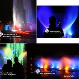 گزارش تصویری بازگشایی آبنمای موزیکال پارک ملت رشت