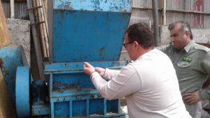 یک واحد آلاینده زیست محیطی در رشت پلمپ شد