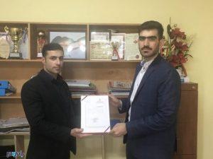 سعید قلیزاده جوریابی به عنوان مدیر روابط عمومی اداره ورزش و جوانان لشت نشا منصوب شد+حکم