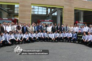 گزارش تصویری ویژه از افتتاحیه  ایستگاه۱۴ آتش نشانی و رونمایی ۶ دستگاه خودروی نیمه سنگین