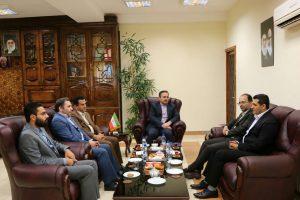 معارفه رئیس ورزش و جوانان شهرستان در دفتر کار سرپرست فرمانداری لاهیجان