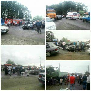 تصادف شدید در جاده جیرده رشت، دو کشته بر جای گذاشت