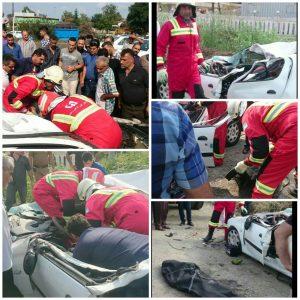 تصادف منجر به فوت در جاده تهران __ رشت