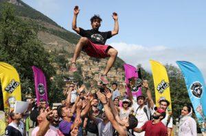 مسابقات پارکور در روستای ماسوله