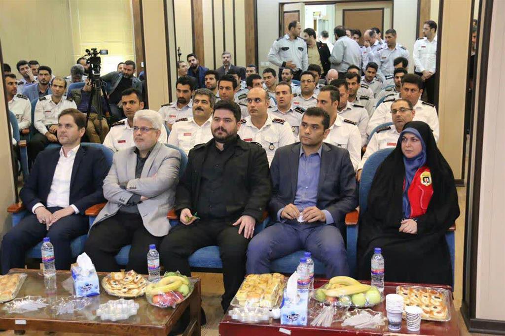 مراسم تجلیل از آتش نشانان شهرداری رشت به مناسبت روز آتش نشانی و خدمات ایمنی برگزار شد