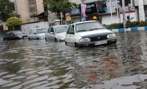 ادامه بارش شدید باران، آبگرفتگی معابر و تعطیلی مدارس در گیلان