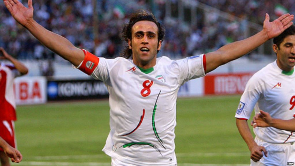 علی کریمی بهترین هافبک تاریخ جام ملتهای آسیا شد