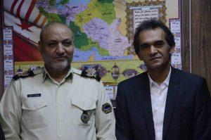 دیدار مدیر منطقه ۴ شهرداری رشت با سردار اسحاقی فرمانده نیروی انتطامی استان گیلان