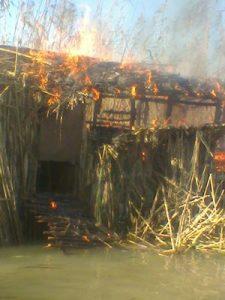 تخریب کومه  غیرمجاز شکار در صومعه سرا