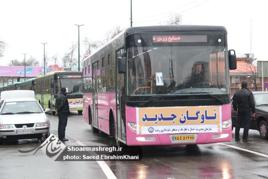 گزارش تصویری رژه  ۸۰ دستگاه ناوگان اتوبوسرانی سازمان مدیریت حمل و نقل شهرداری رشت