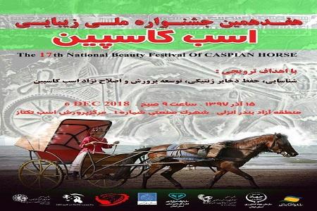 برگزاری هفدهمین جشنواره ملی اسب کاسپین در منطقه آزاد انزلی