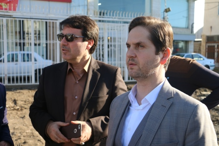 بازدید  سید امیر حسین علوی، رییس شورای شهر رشت از آسفالت سطح منطقه یک شهر رشت
