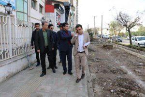 شهردار منطقه یک رشت: تعریض پیاده رو و احداث باند کندروی لاین گلباغ نماز