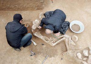 کشف اسکلت جنگجوی ۳ هزار ساله درشمال ایران